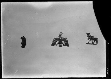 <em>Hathor Cow</em>, ca. 1539-1075 B.C.E. Electrum, 11/16 x 11/16 in. (1.8 x 1.8 cm). Brooklyn Museum, Charles Edwin Wilbour Fund, 37.807E. Creative Commons-BY (Photo: , 37.707E_37.807E_37.828E_GrpB_SL4.jpg)