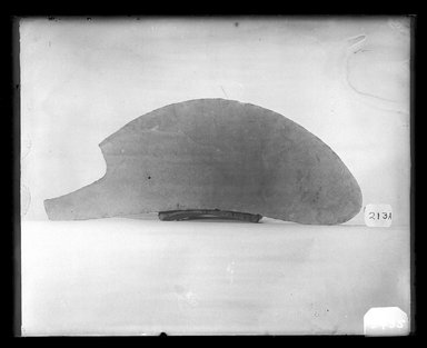 <em>Curved Knife</em>, ca. 4400-3100 B.C.E., or later. Flint, 3 3/16 x 3/8 x 7 3/16 in. (8.1 x 1 x 18.2 cm). Brooklyn Museum, Charles Edwin Wilbour Fund, 37.82E. Creative Commons-BY (Photo: Brooklyn Museum, 37.82E_NegA_SL4.jpg)