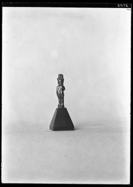 <em>Small Statuette of the Child Horus</em>. Gold Brooklyn Museum, Charles Edwin Wilbour Fund, 37.836E. Creative Commons-BY (Photo: Brooklyn Museum, 37.836E_NegA_SL4.jpg)