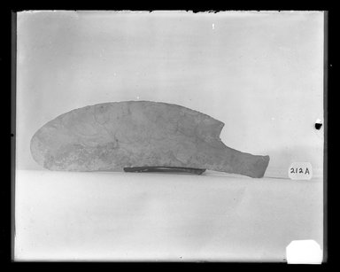 <em>Curved Knife</em>, ca. 4400-3100 B.C.E. Flint, 2 1/2 x 3/8 x 6 15/16 in. (6.4 x 1 x 17.7 cm). Brooklyn Museum, Charles Edwin Wilbour Fund, 37.83E. Creative Commons-BY (Photo: Brooklyn Museum, 37.83E_NegA_SL4.jpg)