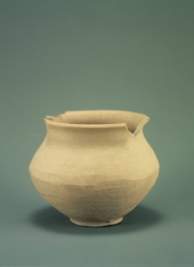 Indus Valley Culture. <em>Medium-sized Jar</em>, 3000-2500 B.C.E. Reddish pottery, 4 3/4 x 6 1/8 in. (12.1 x 15.5 cm). Brooklyn Museum, A. Augustus Healy Fund, 37.91. Creative Commons-BY (Photo: Brooklyn Museum, 37.91.jpg)