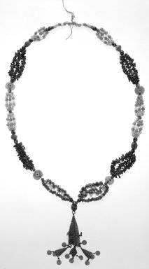 <em>Woman's Necklace</em>. Glass beads Brooklyn Museum, Gift of Mr. and Mrs. George W. Davison, 38.109. Creative Commons-BY (Photo: Brooklyn Museum, 38.109_bw.jpg)