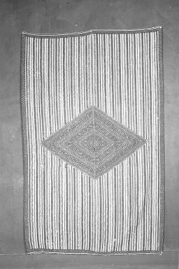 <em>Sarape (Blanket)</em>. Wool, cotton Brooklyn Museum, Gift of Mrs. Frederic B. Pratt, 38.12. Creative Commons-BY (Photo: Brooklyn Museum, 38.12_acetate_bw.jpg)