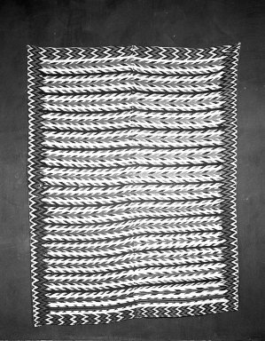 <em>Sarape (Blanket)</em>. Wool, cotton Brooklyn Museum, Gift of Mrs. Frederic B. Pratt, 38.13. Creative Commons-BY (Photo: Brooklyn Museum, 38.13_acetate_bw.jpg)