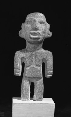 Toltec (Guerrero). <em>Figurine</em>. Stone Brooklyn Museum, Gift of William Spratling, 38.151. Creative Commons-BY (Photo: Brooklyn Museum, 38.151_acetate_bw.jpg)