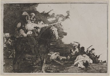 "Francisco de Goya y Lucientes (Spanish, 1746-1828). <em>No se convienen from ""Desastres de la Guerra,""</em> 1811-1813. Etching, before aquatint on laid paper, Sheet: 5 3/8 x 7 15/16 in. (13.7 x 20.2 cm). Brooklyn Museum, By exchange, 38.155 (Photo: , 38.155_PS9.jpg)"