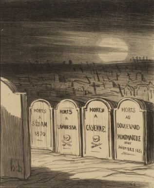 Honoré Daumier (French, 1808-1879). <em>Square Napoléon</em>, November 28, 1870. Lithograph on wove paper, Image: 8 9/16 x 7 in. (21.7 x 17.8 cm). Brooklyn Museum, By exchange, 38.177 (Photo: Brooklyn Museum, 38.177.jpg)