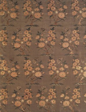 <em>Large Textile</em>, 16th-17th century. Silk, brocaded plain compound twill weave, 26 1/2 x 20 1/2 in. (67.3 x 52.1 cm). Brooklyn Museum, A. Augustus Healy Fund, 38.1. Creative Commons-BY (Photo: Brooklyn Museum, 38.1_transp3795.jpg)