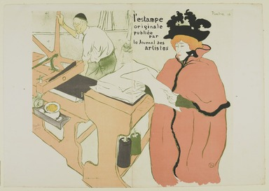 "Henri de Toulouse-Lautrec (French, 1864-1901). <em>Couverture ""L'Estampe Originale,""</em> 1893. Color lithograph on wove paper, 22 1/4 x 25 3/16 in. (56.5 x 64 cm). Brooklyn Museum, Charles Stewart Smith Memorial Fund, 38.342 (Photo: , 38.342_PS9.jpg)"