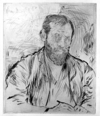 Jean-François Raffaëlli (French, 1850-1924). <em>Raffaelli, par lui-meme</em>, 1893. Drypoint etching and aquatint on heavy laid paper, 7 3/8 x 6 3/16 in. (18.7 x 15.7 cm). Brooklyn Museum, Charles Stewart Smith Memorial Fund, 38.350 (Photo: Brooklyn Museum, 38.350_bw.jpg)