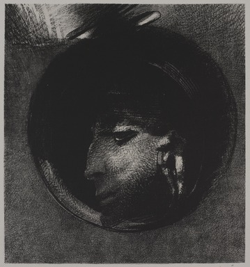 Odilon Redon (French, 1840-1916). <em>Auricular Cell (Cellule auriculaire)</em>, 1894. Lithograph on wove paper, Image: 10 1/2 × 9 3/4 in. (26.7 × 24.8 cm). Brooklyn Museum, Charles Stewart Smith Memorial Fund, 38.351 (Photo: , 38.351_PS9.jpg)