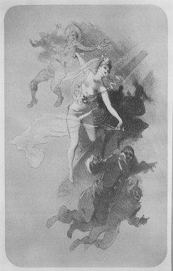 Jules Chéret (French, 1836-1932). <em>La Danse</em>, 1893. Lithograph on wove paper, 14 1/2 x 9 1/16 in. (36.9 x 23 cm). Brooklyn Museum, Charles Stewart Smith Memorial Fund, 38.366 (Photo: Brooklyn Museum, 38.366_bw.jpg)