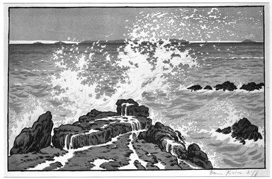 Benjamin Jean Pierre Henri Rivière (French, 1864-1951). <em>La Vague</em>, 1893. Lithograph on wove paper, 11 7/16 x 18 1/8 in. (29.1 x 46 cm). Brooklyn Museum, Charles Stewart Smith Memorial Fund, 38.371 (Photo: Brooklyn Museum, 38.371_bw.jpg)