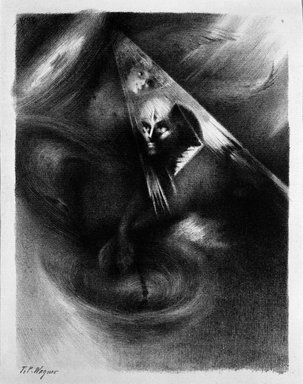 T. Wagner. <em>Reve</em>, 1894. Lithograph on paper, sheet: 23 5/8 x 17 in. (60 x 43.2 cm). Brooklyn Museum, Charles Stewart Smith Memorial Fund, 38.383 (Photo: Brooklyn Museum, 38.383_bw.jpg)