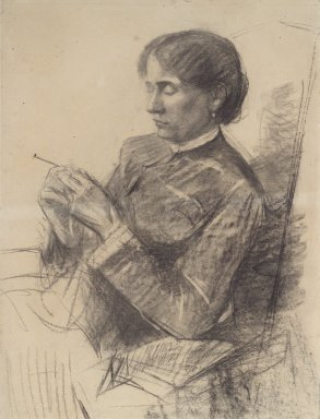 Henri de Toulouse-Lautrec (French, 1864-1901). <em>Portrait of Madame la Comtesse Adèle de Toulouse-Lautrec</em>, 1882. Charcoal on laid paper, mounted on thin wove paper, Sheet: 25 3/4 x 17 in. (65.4 x 43.2 cm). Brooklyn Museum, Purchased with funds given by Walter N. Rothschild to commemorate the 75th birthday of Edward C. Blum, 38.39 (Photo: Brooklyn Museum, 38.39.jpg)