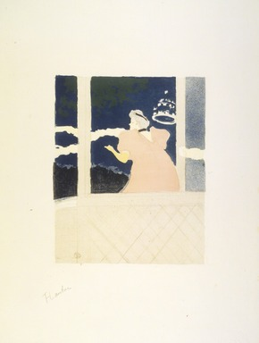 Henri de Toulouse-Lautrec (French, 1864-1901). <em>Aux Ambassadeurs (Au Cafe-Concert)</em>, 1894. Lithograph on wove paper, 11 7/8 x 9 7/16 in. (30.2 x 24 cm). Brooklyn Museum, Charles Stewart Smith Memorial Fund, 38.392 (Photo: Brooklyn Museum, 38.392_transp1372.jpg)