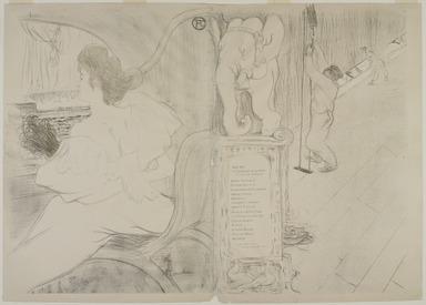 Henri de Toulouse-Lautrec (French, 1864-1901). <em>Couverture pour L'Estampe originale</em>, 1895. Lithograph in color on wove paper, 23 1/4 x 32 11/16 in. (59 x 83 cm). Brooklyn Museum, Charles Stewart Smith Memorial Fund, 38.414 (Photo: , 38.414_PS9.jpg)
