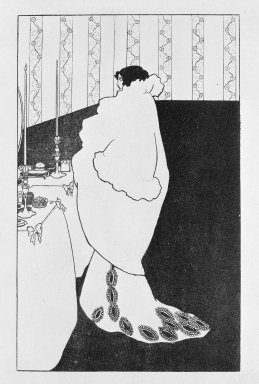 Aubrey Beardsley (British, 1872-1898). <em>La Dame Aux Camelias</em>, n.d. Zincotype on China paper, Image: 7 x 4 3/8 in. (17.8 x 11.1 cm). Brooklyn Museum, Henry L. Batterman Fund, 38.42 (Photo: Brooklyn Museum, 38.42_SL3.jpg)