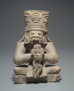 Zapotec. <em>Funerary Urn</em>. Clay Brooklyn Museum, Carll H. de Silver Fund, 38.52. Creative Commons-BY (Photo: Brooklyn Museum, 38.52.jpg)