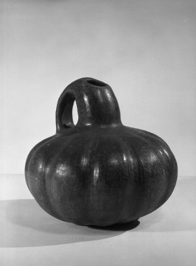 <em>Melon-shaped Bowl</em>. Clay Brooklyn Museum, Museum Expedition 1938, Dick S. Ramsay Fund, 38.594. Creative Commons-BY (Photo: Brooklyn Museum, 38.594_acetate_bw.jpg)