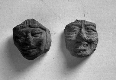 <em>Face</em>. Clay Brooklyn Museum, Carll H. de Silver Fund, 38.60. Creative Commons-BY (Photo: , 38.59_38.60_acetate_bw.jpg)