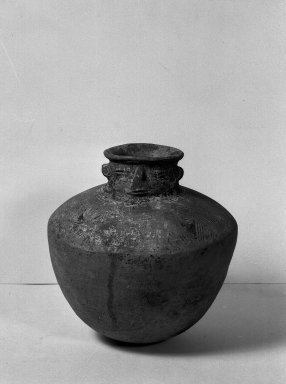 <em>Water Jar</em>. Clay Brooklyn Museum, Museum Expedition 1938, Dick S. Ramsay Fund, 38.605. Creative Commons-BY (Photo: Brooklyn Museum, 38.605_acetate_bw.jpg)