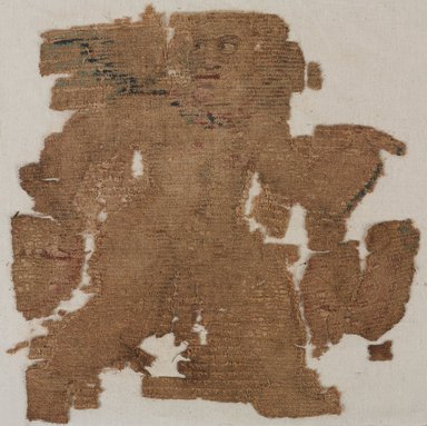Coptic. <em>Fragment with Figural Decoration</em>, 4th-5th century C.E. Flax, wool, 14 1/2 x 14 1/2 in. (36.8 x 36.8 cm). Brooklyn Museum, Charles Edwin Wilbour Fund, 38.683. Creative Commons-BY (Photo: , 38.683_PS9.jpg)