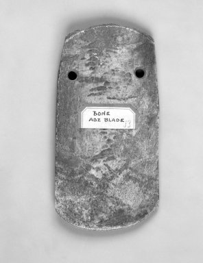 Eskimo. <em>Adze Blade</em>, 19th century (possibly). Bone, 5 x 2 1/2 x 3/8 in. or (12.5 x 6.5 cm). Brooklyn Museum, Gift of Frank K. Fairchild, 38.706. Creative Commons-BY (Photo: Brooklyn Museum, 38.706_bw.jpg)