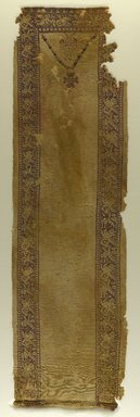 Coptic. <em>Tunic Front with Marine Motifs</em>, 6th century C.E. Wool, 13 x 44 1/2 in. (33 x 113 cm). Brooklyn Museum, Charles Edwin Wilbour Fund, 38.753. Creative Commons-BY (Photo: Brooklyn Museum, 38.753_PS9.jpg)