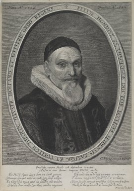 Cornelis van Dalen (Dutch, ca. 1602-1665). <em>Fessus Hommius</em>. Engraving, Sheet: 12 5/8 x 8 7/8 in. (32 x 22.6 cm). Brooklyn Museum, Museum Collection Fund, 38.766 (Photo: Brooklyn Museum, 38.766_PS2.jpg)