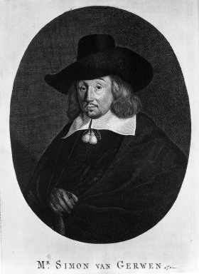 Hendrik Bary (Dutch, 1640-1707). <em>Matthew van Gherwen, Jurist</em>, 17th century. Engraving on laid paper, Plate: 11 7/16 x 7 1/2 in. (29.1 x 19.1 cm). Brooklyn Museum, Museum Collection Fund, 38.772 (Photo: Brooklyn Museum, 38.772_acetate_bw.jpg)
