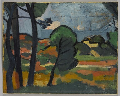 André Derain (French, 1880-1954). <em>Landscape in Provence (Paysage de Provence)</em>, ca. 1908. Oil on canvas, 12 11/16 x 16 in. (32.2 x 40.6 cm). Brooklyn Museum, Anonymous gift, 39.273 (Photo: Brooklyn Museum, 39.273_PS9.jpg)