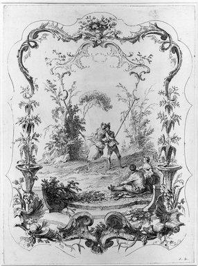 Jacques Gabriel Huguier (French, 1695-1772). <em>La Danse Bachique</em>. Etching, Sheet: 19 3/4 x 14 3/8 in. (50.2 x 36.5 cm). Brooklyn Museum, 39.28.2 (Photo: Brooklyn Museum, 39.28.2_bw.jpg)