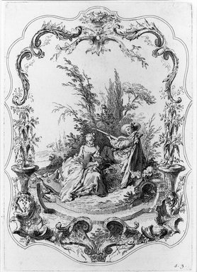 Jacques Gabriel Huguier (French, 1695-1772). <em>La Danse Bachique</em>. Etching, Sheet: 19 13/16 x 14 1/4 in. (50.3 x 36.2 cm). Brooklyn Museum, 39.28.3 (Photo: Brooklyn Museum, 39.28.3_bw.jpg)