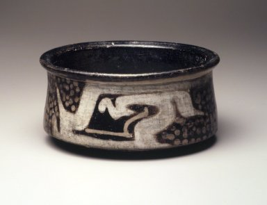 <em>Bowl</em>, 500 B.C.E.-500 C.E. Clay, resist decoration, slips, 3 x 6 1/8 in.  (7.6 x 15.6 cm). Brooklyn Museum, Museum Expedition 1938, Dick S. Ramsay Fund, 39.291. Creative Commons-BY (Photo: Brooklyn Museum, 39.291.jpg)