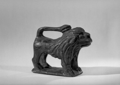 Schimmel. <em>Lion</em>, 19th century. Carved wooden sculpture, Overall: 4 1/16 x 5 1/8 in. (10.3 x 13 cm). Brooklyn Museum, Gift of R. Thornton Wilson, 39.38. Creative Commons-BY (Photo: Brooklyn Museum, 39.38_acetate_bw.jpg)