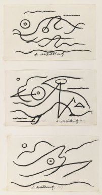 Abraham Walkowitz (American, born Russia, 1878-1965). <em>Fish Design</em>, 1913. Ink over graphite on paper, Sheet (mount): 10 7/8 x 8 1/2 in. (27.6 x 21.6 cm). Brooklyn Museum, Gift of the artist, 39.472b (Photo: , 39.472a-c_IMLS_PS3.jpg)