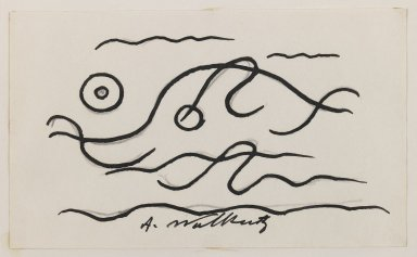 Abraham Walkowitz (American, born Russia, 1878-1965). <em>Fish Design</em>, ca. 1913. Ink over graphite on paper, Sheet (drawing): 3 x 5 in. (7.6 x 12.7 cm). Brooklyn Museum, Gift of the artist, 39.472a (Photo: Brooklyn Museum, 39.472a_IMLS_PS3.jpg)