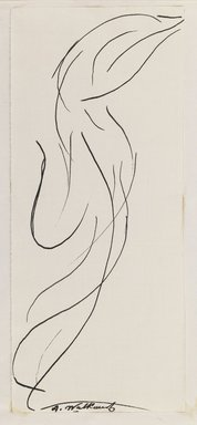 Abraham Walkowitz (American, born Russia, 1878-1965). <em>Dancing Figure (Isadora Duncan)</em>, n.d. Black ink and graphite on cream, medium-weight, moderately textured paper, Sheet (mount): 8 1/2 x 10 7/8 in. (21.6 x 27.6 cm). Brooklyn Museum, Gift of the artist, 39.473b (Photo: Brooklyn Museum, 39.473b_IMLS_PS3.jpg)