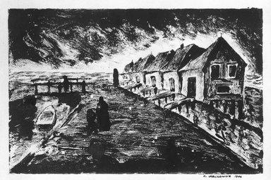 Abraham Walkowitz (American, born Russia, 1878-1965). <em>Holland Marken Jrland</em>, 1906. Monotype Brooklyn Museum, Gift of the artist, 39.502 (Photo: Brooklyn Museum, 39.502_bw.jpg)