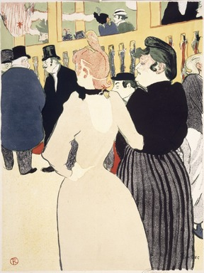 Henri de Toulouse-Lautrec (French, 1864-1901). <em>At the Moulin Rouge (Au Moulin Rouge)</em>, 1892. Lithograph on wove paper, Sheet: 23 15/16 x 18 5/16 in. (60.8 x 46.5 cm). Brooklyn Museum, Carll H. de Silver Fund, 39.540 (Photo: Brooklyn Museum, 39.540_SL1.jpg)
