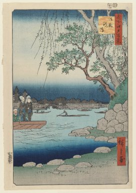 Utagawa Hiroshige (Ando) (Japanese, 1797-1858). <em>Oumayagashi, No. 105 from One Hundred Famous Views of Edo</em>, December, 1857. Woodblock color print, sheet: 14 x 9 3/4 in.  (35.5 x 24.7 cm). Brooklyn Museum, Gift of George Tuttle, 39.587 (Photo: Brooklyn Museum, 39.587_IMLS_PS3.jpg)