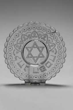 American. <em>Saucer</em>, 19th century. Glass, Diameter: 4 3/4 in. (12.1 cm). Brooklyn Museum, Gift of Mrs. William Greig Walker by subscription, 40.251. Creative Commons-BY (Photo: Brooklyn Museum, 40.251.jpg)