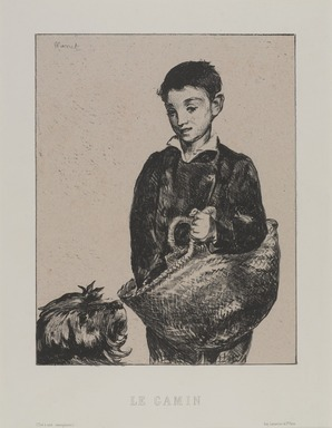 Édouard Manet (French, 1832-1883). <em>The Urchin (Le Gamin)</em>, 1868-1874. Lithograph, printed chine colle Brooklyn Museum, Charles Stewart Smith Memorial Fund, 40.345 (Photo: , 40.345_PS9.jpg)