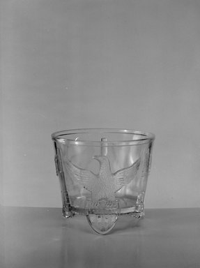 American. <em>Sugar Bowl</em>, ca. 1898. Glass, 3 3/4 x 4 7/16 x 4 7/16 in. (9.5 x 11.3 x 11.3 cm). Brooklyn Museum, Gift of Mrs. V. B. Howe, 40.377.1. Creative Commons-BY (Photo: Brooklyn Museum, 40.377.1_acetate_bw.jpg)