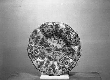 <em>Vegetable Plate</em>, 18th century. Ceramic, 1 3/4 x 10 1/2 in. (4.4 x 26.7 cm). Brooklyn Museum, Gift of Daniel Berry Austin, 40.525. Creative Commons-BY (Photo: Brooklyn Museum, 40.525_acetate_bw.jpg)