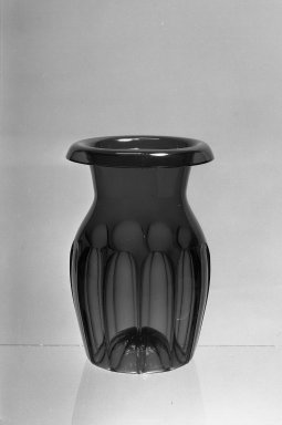 American. <em>Panelled Vase</em>, 19th century. Glass, 7 1/2 x 5 1/8 in. (19.1 x 13 cm). Brooklyn Museum, Dick S. Ramsay Fund, 40.708. Creative Commons-BY (Photo: Brooklyn Museum, 40.708_acetate_bw.jpg)