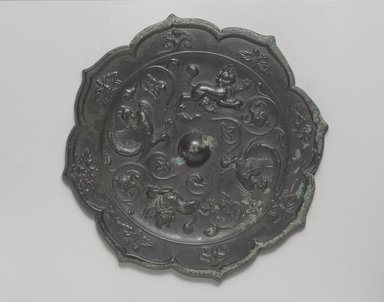 <em>Mirror</em>, 618-906 C.E. Bronze, Diameter: 7 5/8 in. (19.4 cm). Brooklyn Museum, A. Augustus Healy Fund, 40.716. Creative Commons-BY (Photo: Brooklyn Museum, 40.716_PS4.jpg)