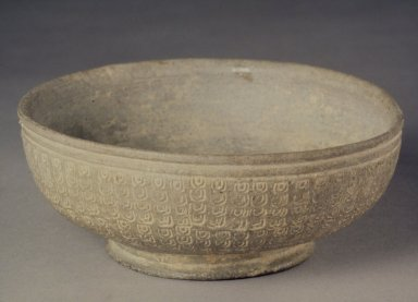 <em>Bowl</em>, 7th-8th century. Stoneware, Height: 2 1/8 in. (5.4 cm). Brooklyn Museum, Gift of Sir George Sanson, 40.719. Creative Commons-BY (Photo: Brooklyn Museum, 40.719.jpg)