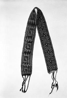 Huichol (Wixárika). <em>Headband</em>. Wool Brooklyn Museum, Ella C. Woodward Memorial Fund, 40.747. Creative Commons-BY (Photo: Brooklyn Museum, 40.747_bw.jpg)